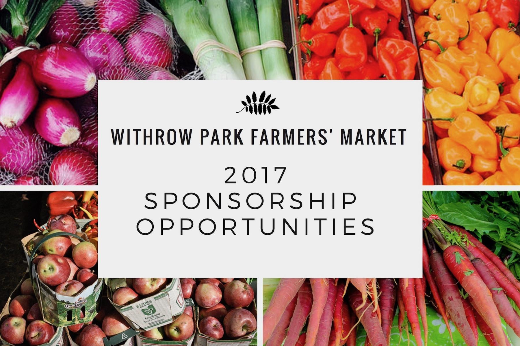 Farmers Market Sponsorship Opportunities