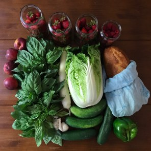 farmers-market-haul-with-basil